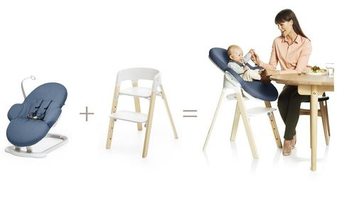 dbd9e9054 Grows with baby, step by step.... the modular Scandinavian designed Stokke  Steps seating system for baby and kids