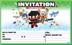 Belle invitation anniversaire garçon 8 ans gratuite à imprimer gratuite AX-83