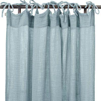 rideau en gaze de coton bio sweet blue