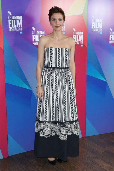 Maggie Gyllenhaal attends the European premiere of 'The Kindergarten Teacher' at the 62nd BFI London Film Festival.