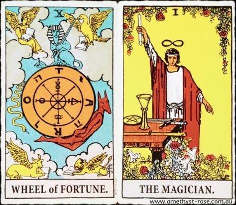 2/8/16 #TarotNumerology #Tarot #WheelOfFortune #TheMagician #EnergyOfTheDay #InsightsFromTheTarot #WisdomOfTheTarot #ARNAPSreadings  Today's energies speak of putting knowledge to use to create something you've been dreaming about.  You have the tools, you have the knowledge, Spirit guides you to your next step, what else are you waiting for?