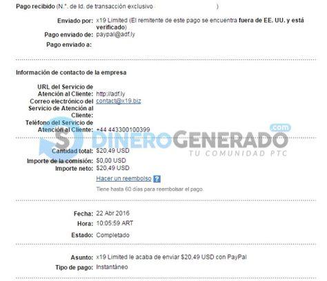 Pago Nº40 De Adfly Dinerogenerado Com Ganar Dinero Servicio