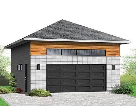 Plan 22372dr Detached 2 Car Garagewith Hip Roof Hip Roof