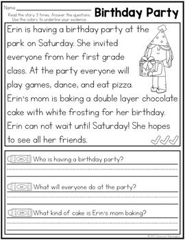 Likeable reading worksheets 1st grade ideas
