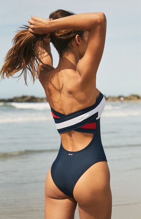 Tommy Hilfiger Colorblock One Piece Swimsuit