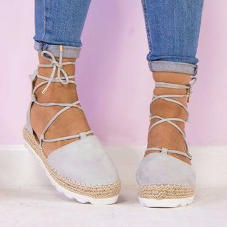 Fashion Flats Ankle Strap Sandals Bandage Shoes | Ankle