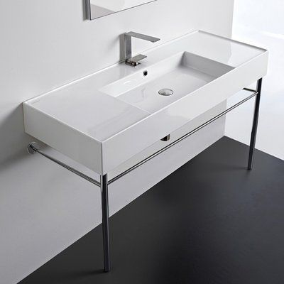 Scarabeo By Nameeks Ceramic 48 Console Bathroom Sink With