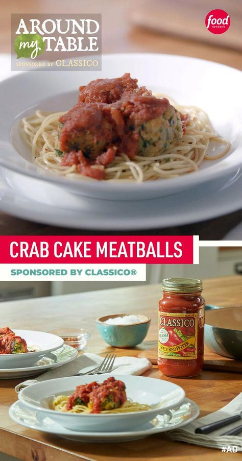 #ad Turn crab cakes into little meatballs then simmer them in a spicy tomato sauce 😍 Sponsored by Classico®.