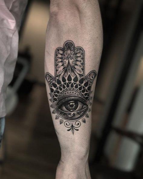 80+ Best Hamsa Tattoo Designs & Meanings - Symbol Of Protection(2019) - #Designs #Hamsa #meanings #Protection2019 #symbol #Tattoo