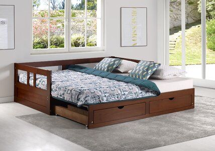 Harriet Bee Bechtold Twin Daybed With Queen Trundle Wayfair