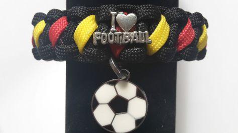 EM Armband Nr3 Fan Fußball Deutschland-Farben UNISEX  Farb -Wunsch Wunsch -Mass