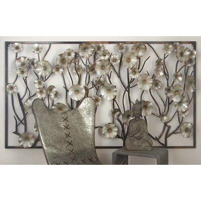 Cole Grey Metal Wall Decor Metal Wall Flowers Metal Wall