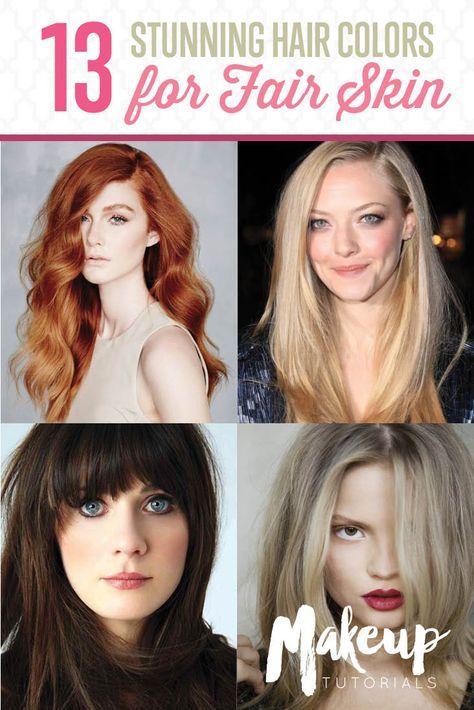 13 Stylish Hair Colors For Fair Skin You Should Try This Fall Hair Color For Fair Skin Pale Skin Hair Color Hair Fair