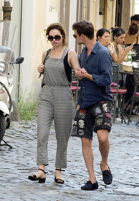 """""""""""Matt Smith and Lily James enjoying their time in Rome"""" """""""