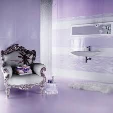 33 Beautiful Purple Bathroom Design Ideas: 33 Beautiful Purple Bathroom  Design Ideas With Classic Chair And White Vanity And Wall Mirror Design