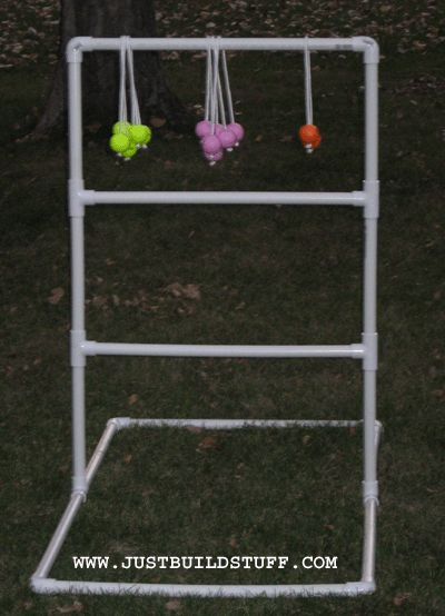 """Ladder Ball golf game"" DIY instructions. Hubby has wanted to make this for a long time."