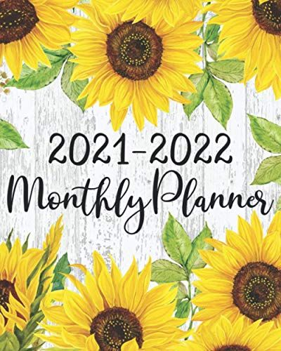 Calendar Books 2022.2021 2022 Monthly Planner Sunflower Calendar 2021 2022 Agenda For Women With To Do List Goals Holidays Notes And Monthly Planner Planner To Do List