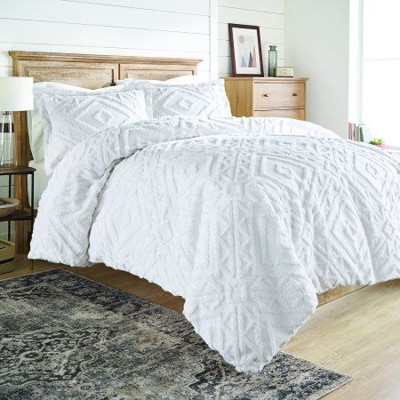 Better Homes And Gardens Full Queen 3 Piece Chenille Duvet Cover