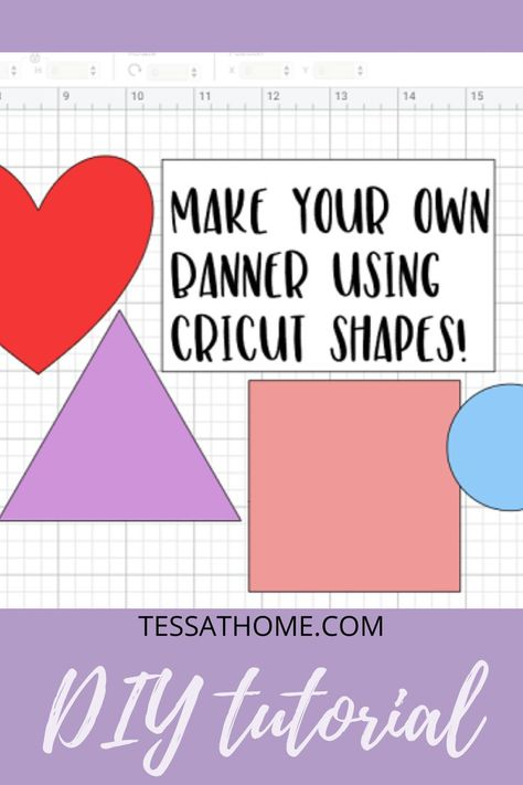 How To Make A Banner With Cricut Design Space shapes. Create your own free banner templates by using the Slice tool. Cricut newbie? Follow this step by step tutorial on how to use slice in Design Space. Design your own shapes for Cricut DIY craft projects. Even if you know how to use slice, this is still a great method to take a look at! Cricut design space for beginners #DIYBanner #cricutslicetutorial #Tutotial #tips #design #crafts #helpful #slice #banner #diydecor #valentinescraftsideas