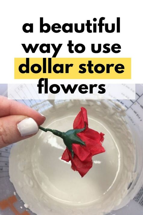 See how she upgraded a simple jar with some plastic dollar store flowers and plaster. Make this dollar store home decor project you can make to decorate your entryway or living room mantle on a budget.