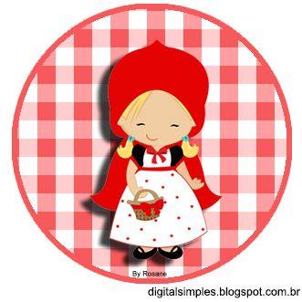 Kit De Personalizados Tema Chapeuzinho Vermelho Para Imprimir