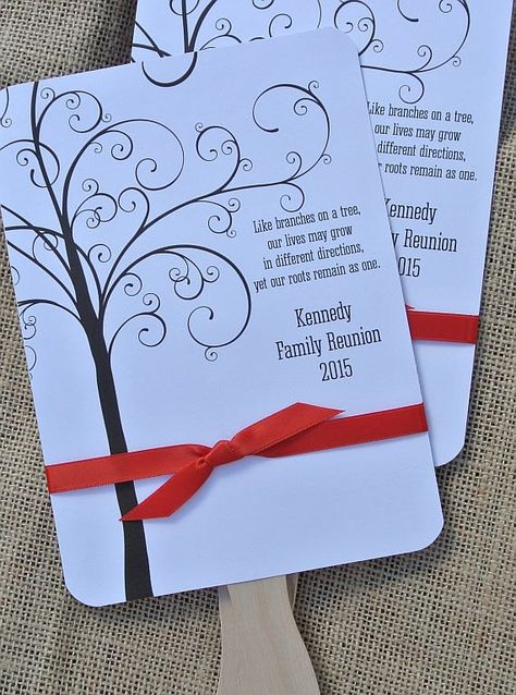Family Reunion Ideas | Summer Reunion | Hand Fans Family Reunion | by abbey and izzie designs