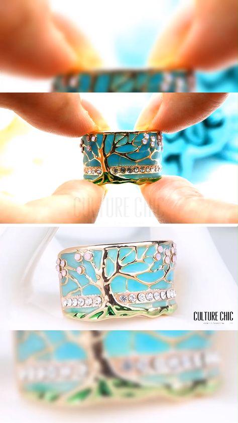 Handmade Lucky Tree Opal Ring