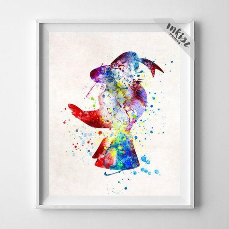Donald Duck Golden Fleece Poster HD Print on Canvas Home Decor Wall Art Painting