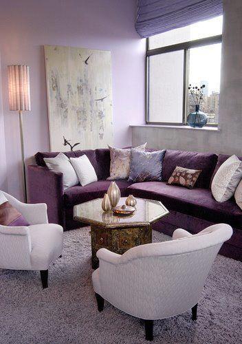 Lila Zimmer erscheinen als Eyecatcher im Haus Living rooms - Wohnzimmer Modern Lila