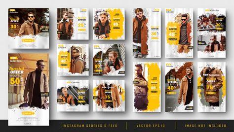 Histórias do Instagram e modelo de kit d...   Premium Vector #Freepik #vector #banner #poster #sale #abstract