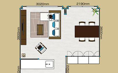 部屋の快適な家具配置とレイアウト例 1ldk 2ldk 3ldk A Flat その暮らしに アジアの風を 目黒通り 新宿 大阪梅田 グランフロント北館 レイアウト リビング 家具 配置 2ldk レイアウト