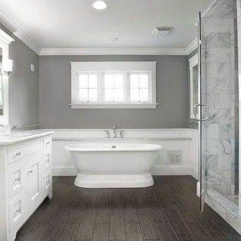 39 Unordinary Wood Tile Design Ideas For Bathroom With Images Wood Tile Bathroom Wood Floor Bathroom Grey Bathrooms