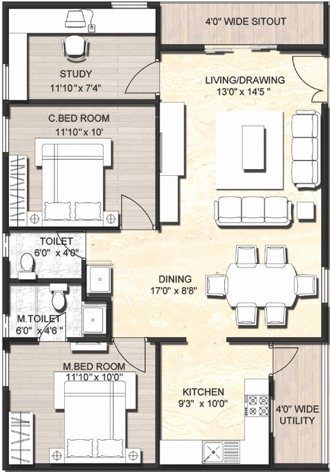 900 Sq Ft Duplex House Plans Google Search With Images House Layout Plans 2bhk House Plan Contemporary House Plans
