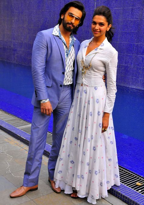 Ranveer Singh And Deepika Padukone Designer Dresses Indian Bollywood Fashion Dresses