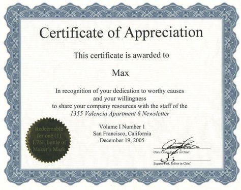 Golden border certificate of appreciation - Free Certificate - certification of appreciation wording