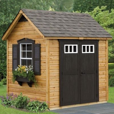 Amazing Wooden Garden Shed With Brown Door And Trim | Garden Sheds | Pinterest |  Brown Doors, Doors And Brown Amazing Pictures