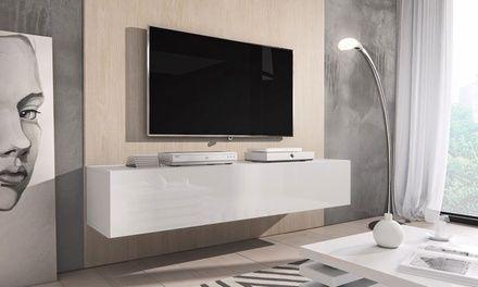 Jusqu A 4 Meuble Tv Rocco Groupon Meuble Tv Meuble Tv Rangement Armoire Tele