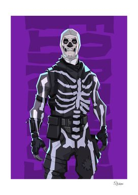 Skull Trooper Art Print By Nikita Abakumov Limited Edition From 29 9 Curioos In 2021 Best Gaming Wallpapers Art Prints Trooper