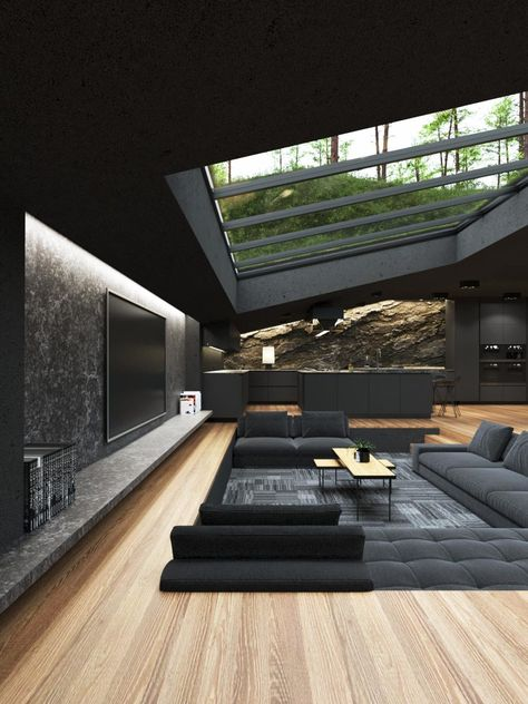 These 3D Renderings Of A Black Villa Tucked Away In The Woods Are Eye-Popping - Digg