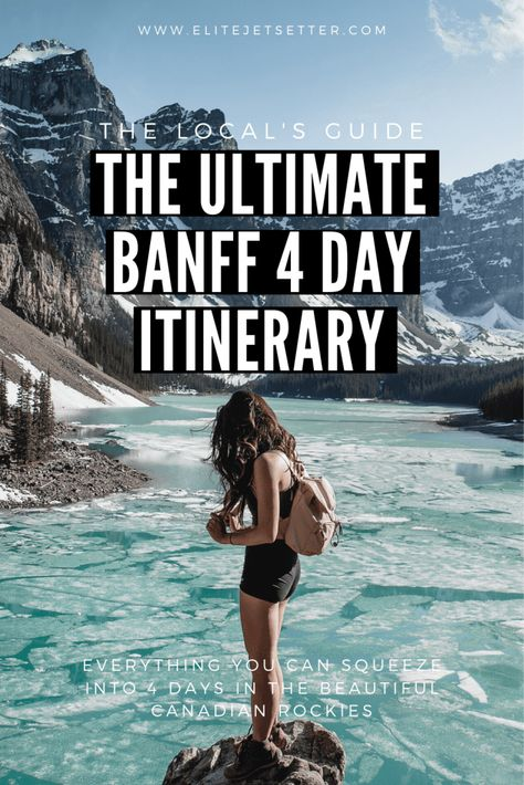 Ultimate Banff Itinerary - everything you need to see in your 4 day vacation in Banff National Park. Things to do in Banff. Places To Travel, Travel Destinations, Fairmont Chateau Lake Louise, Banff Canada, Canadian Rockies, Banff National Park, Solo Travel, Travel Tips, Budget Travel
