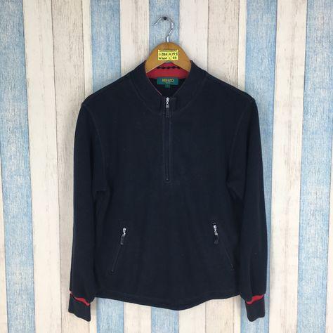 e3c6030a0 KENZO GOLF Sweater Unisex Small Black Vintage 90's Kenzo Japan Fashion Streetwear  Jumper Kenzo Paris Half