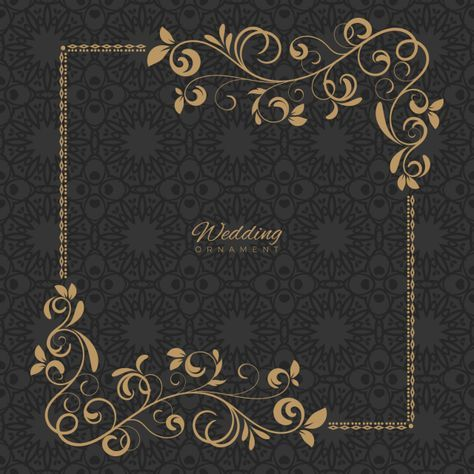 Luxury Ornament Template Ornament Wedding Template Png