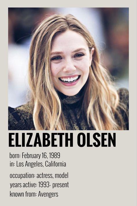 elizabeth olsen's polaroid