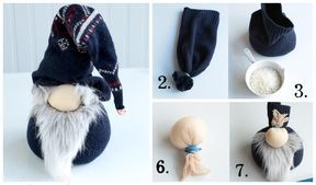 Diy Christmas Sock Gnome Doll Sew Pattern Tutorial Scandinavian Christmas Gnomes From Socks No Christmas Diy Scandinavian Christmas Christmas Fabric Crafts