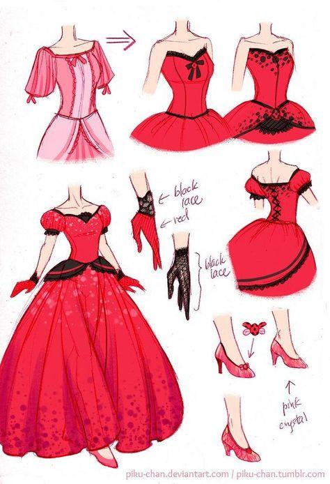 Vestido De Baile Da Ladybug Roupas De Baile Ilustracao Vestido