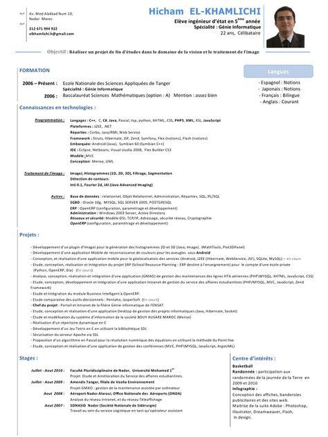 Exemple D Un Cv Marocain Pdf Advertising Windows