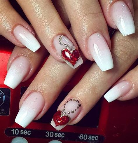 45 Adorable Heart Valentines Day Nail Designs In 2020