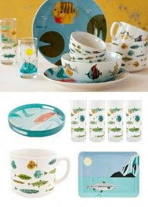 charley harper + todd oldham + fishs eddy  sc 1 st  Pinterest & a fishing we will go @CharleyHarper @Todd_Oldham | For the Home ...