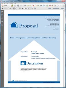 Real Estate Land Development Proposal   The Real Estate Land Development Proposal  Sample Is An Example