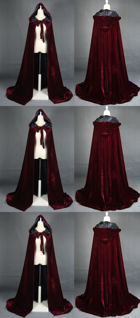 Cloak Hooded Velvet Satin Cape Renaissance Clothing Medieval Costume Capes Cloak